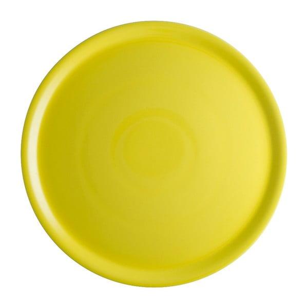 Żółty talerz porcelanowy na pizzę Brandani Pizza, ⌀ 31 cm