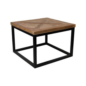 Konferenční stolek sdeskou zteakového dřeva HMS collection Mosaic, 55 x 55 cm