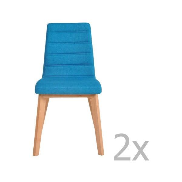 Sada 2 tyrkysových židlí Garageeight Nybro