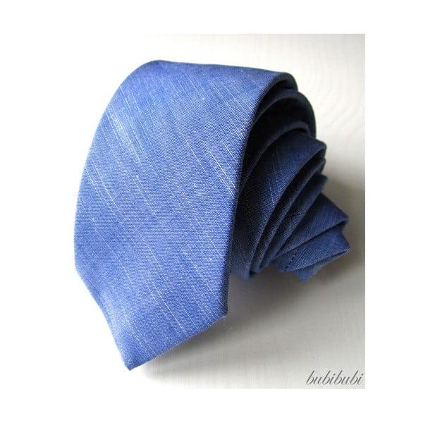 Modrá kravata se žíháním