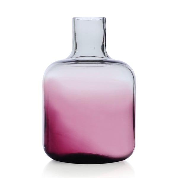 Skleněná váza Islanda Smoke/Violet, 24 cm