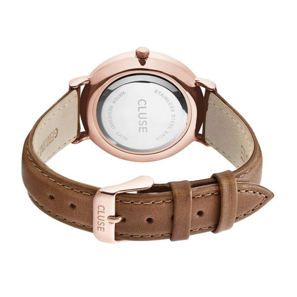 Hodinky Cluse La Bohéme Rose Gold/Black Brown