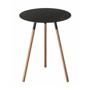 Černý odkládací stolek Yamazaki Plain