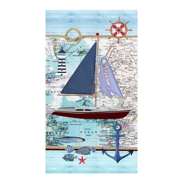 Plážová osuška s potiskem Good Morning Aaron, 100 x 180 cm
