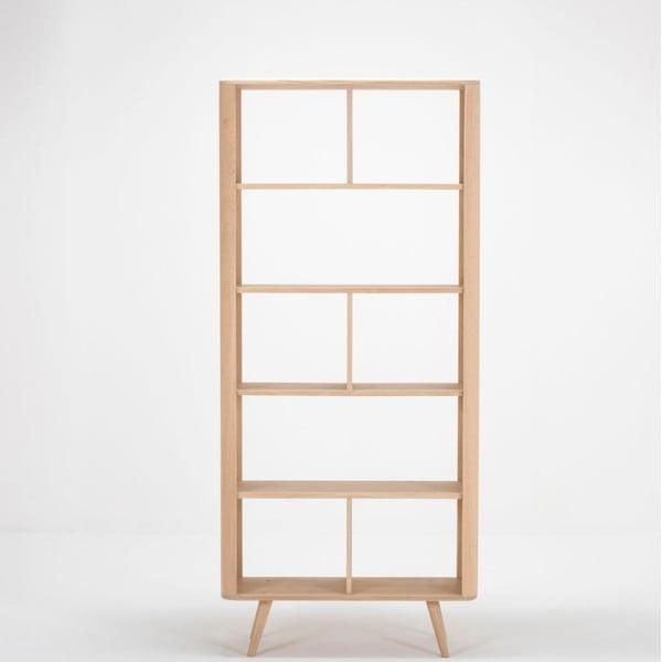 Ena tölgyfa könyvespolc, 90 x 35 x 200 cm - Gazzda