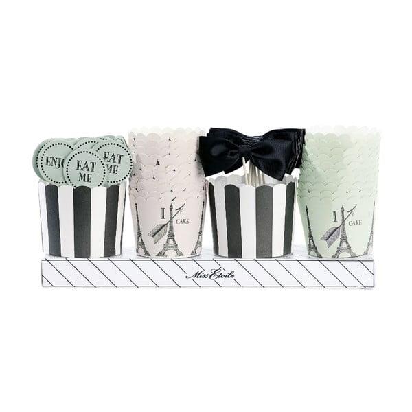 Dárkové balení košíčků a ozdob na muffiny Miss Étoile Paříž