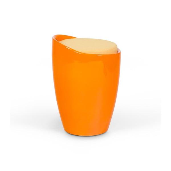 Pomarańczowy stołek ze schowkiem Kokoon Ese