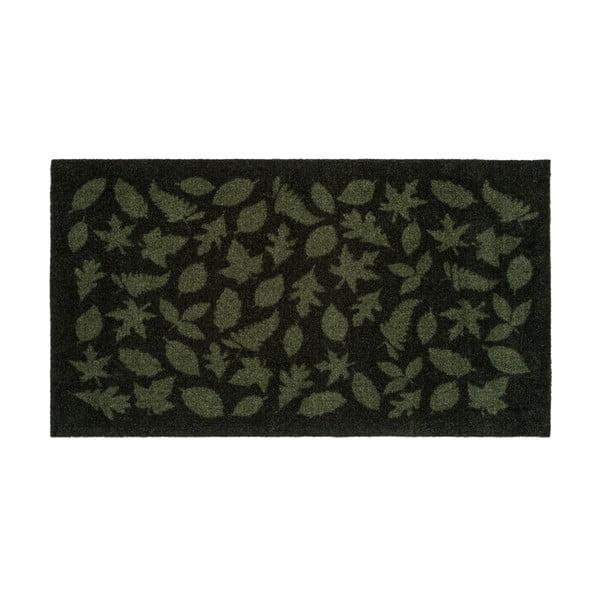 Covoraș intrare tica copenhagen Leaves, 67x 120 cm, verde închis
