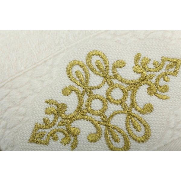 Sada 2 ručníků Isle Cream Gold, 30x50 cm/50x90 cm