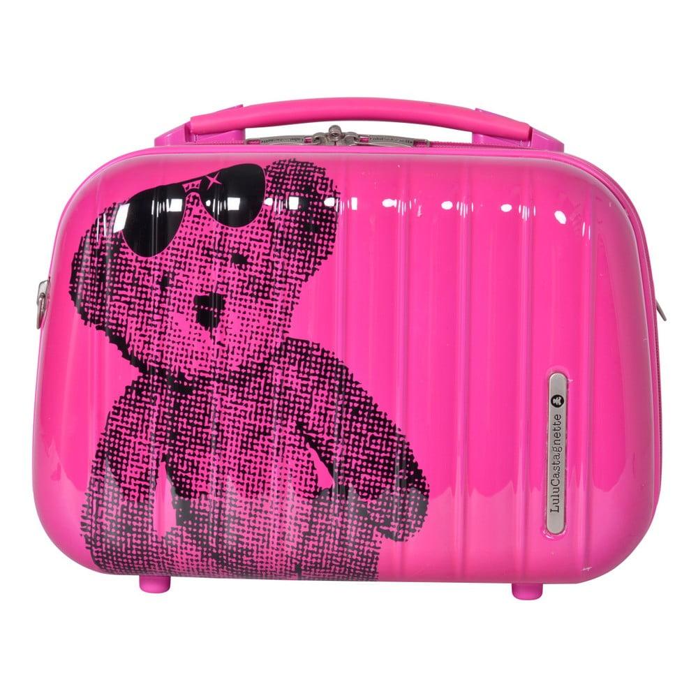 Růžový příruční kufr LULU CASTAGNETTE Full, 17l