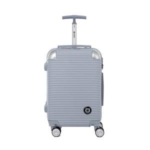 Cestovní kufr na kolečkách ve stříbrné barvě s kódovým zámkem Teddy Bear Larisa, 44 l