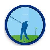 Hodiny Golfer, 20 cm