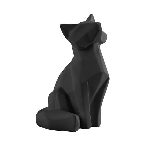 Statuetă PT LIVING Origami Fox, înălțime 15 cm, negru mat