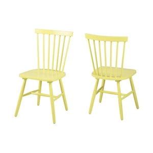 Žlutá jídelní židle Actona Riano