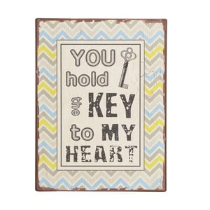 Cedule You hold the key to my heart, 35x26 cm