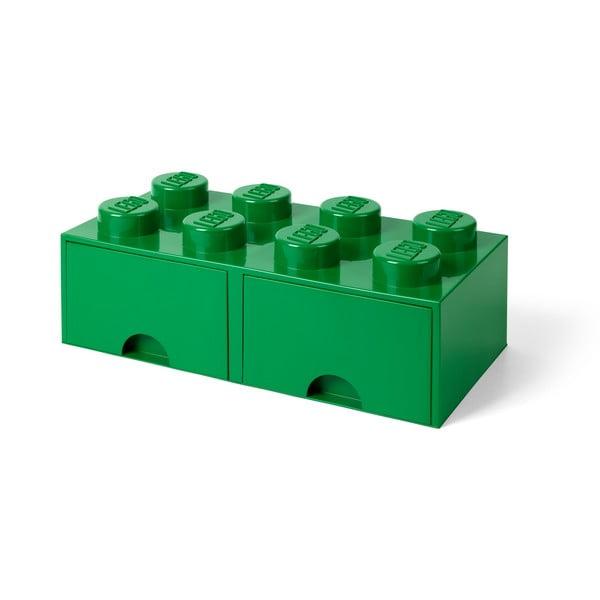 Cutie depozitare cu 2 compartimente LEGO®, verde