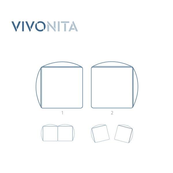 Námořnicky modrá dvoumístná modulová pohovka Vivonita Velvet Cube