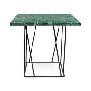 Măsuță TemaHome Helix din marmură, cu picioare negre, 50 cm, verde