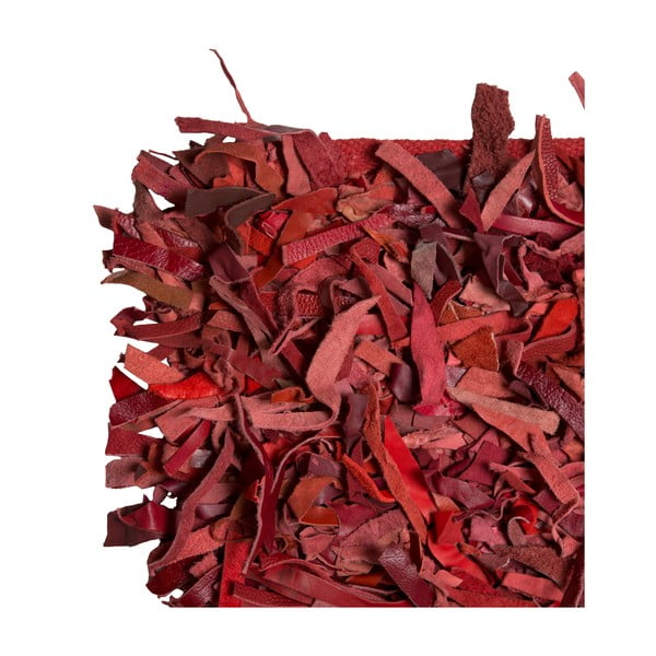 Koberec Leather Shaggy Red, 140x200 cm