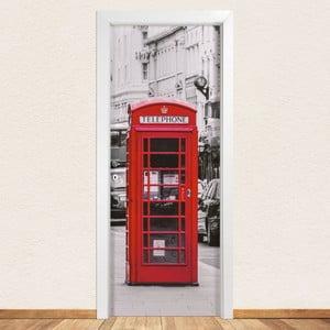 Samolepka na dveře LineArtistica Telephone, 80 x 215 cm