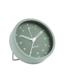 Ceas cu alarmă Karlsson Tinge, ø 9cm, verde poza