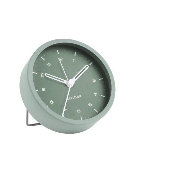 Ceas cu alarmă Karlsson Tinge, ø 9cm, verde