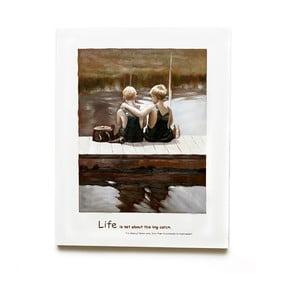 Dřevěný obraz Friendship, 50x63 cm