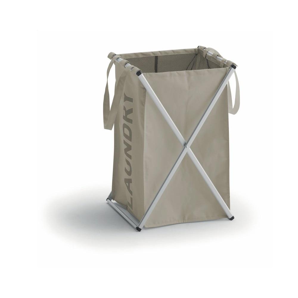 Hnědý koš na prádlo s hliníkovou konstrukcí Cosatto