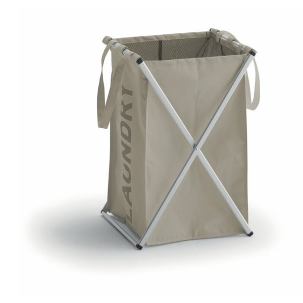 Koš na prádlo v khaki barvě s hliníkovou konstrukcí Cosatto