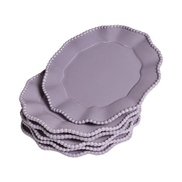 Sada talířků Parma, 6 ks, fialové