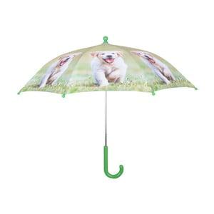 Světle zelený deštník s potiskem štěňátka Esschert Design Animals