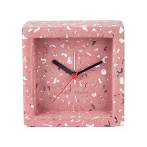 Růžové stolní hodiny s budíkem Karlsson Franky