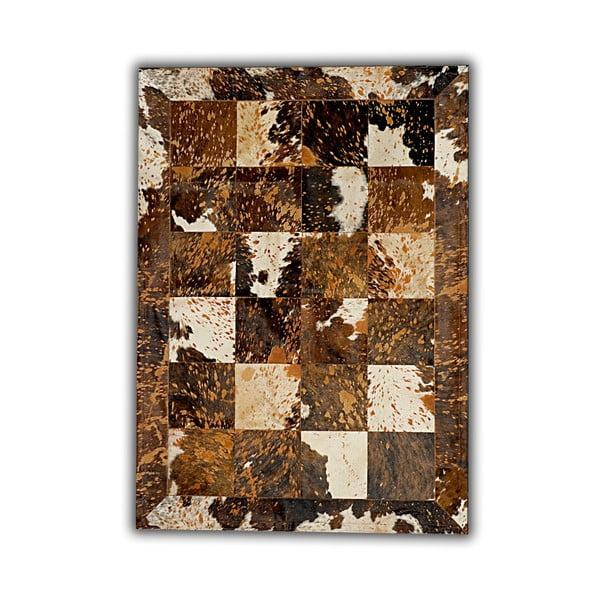 Koberec z pravé kůže Acid, 140x200 cm