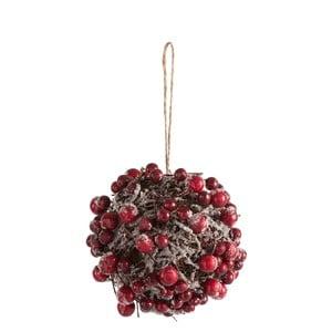 Závěsná dekorace J-Line Berries, ⌀12cm