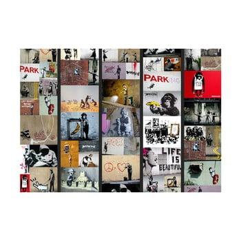 Tapet rolă Bimago Banksy, 0,5 x 10 m imagine