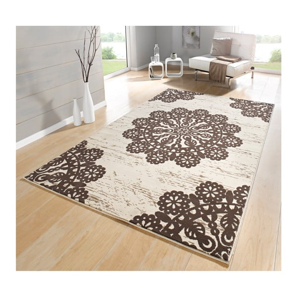 Hnědý koberec Hanse Home Gloria Lace, 80x150cm