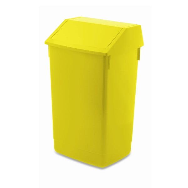 Žlutý odpadkový koš s vyklápěcím víkem Addis, 41 x 33,5 x 68 cm