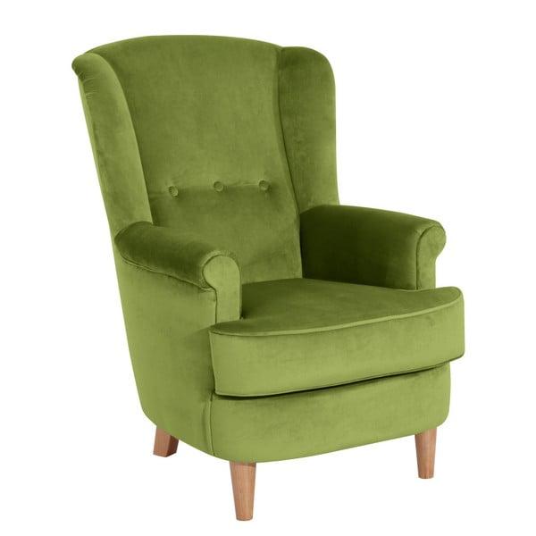 Kendra Velvet olíva zöld füles fotel - Max Winzer