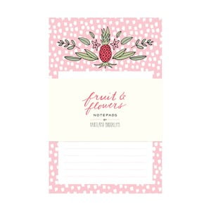 Bločky Chronicle Books Fruit & Flowers Notepads, 2ks