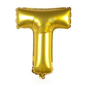 Balónek T zlaté, 30 cm