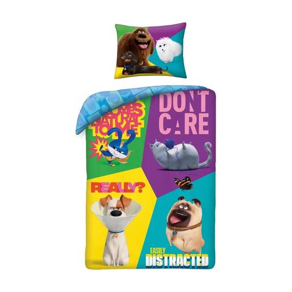 Lenjerie de pat din bumbac pentru copii Halantex The Secret Life of Pets 2, 140 x 200 cm
