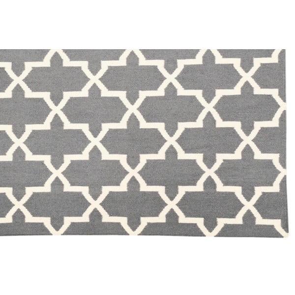 Ručně tkaný koberec Kilim Grey Design, 160x230 cm
