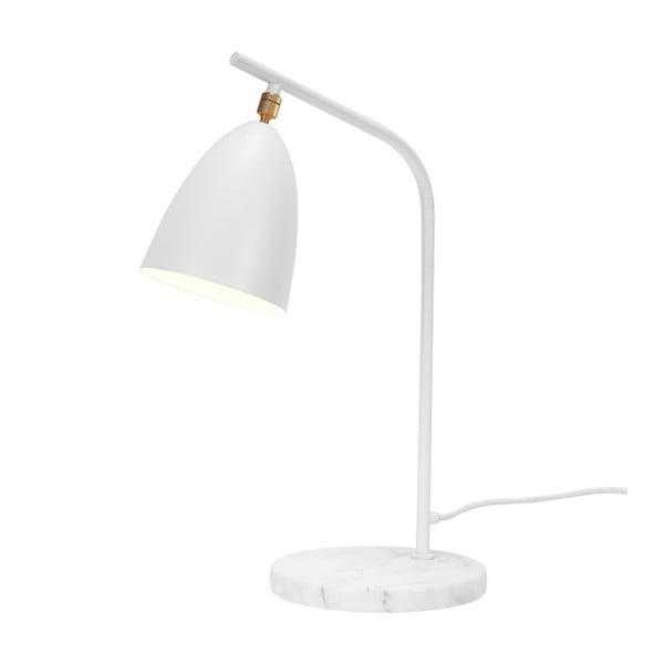 Bílá stolní lampa s mramorovou základnou Garageeight Mel