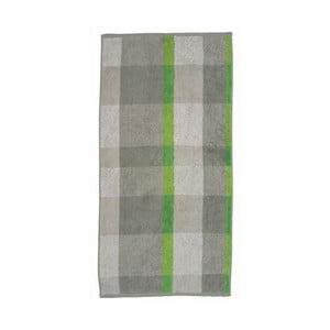Ručník Ladessa, zelená kostka, 50x100 cm