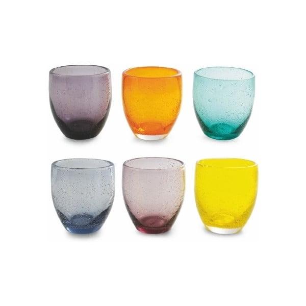 Sada 6 farebných pohárov z fúkaného skla Villa d'Este Cascina, 280 ml