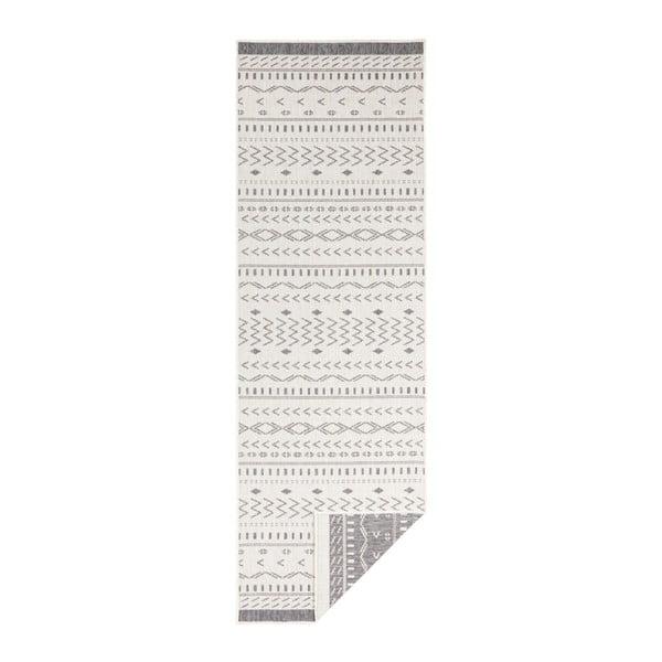 Šedo-krémový venkovní koberec Bougari Kuba, 250 x 80 cm