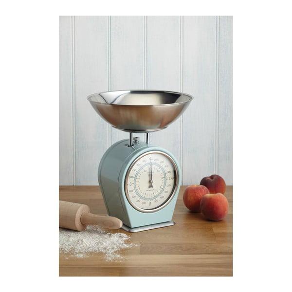 Modrá kuchyňská váha Kitchen Craft Living Nostalgia, 4kg