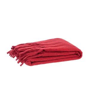 Pléd Fringes Red, 125x150 cm