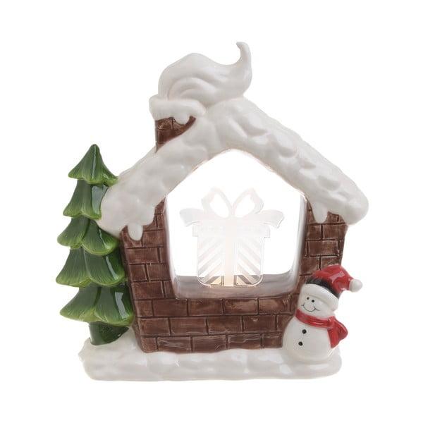 Vánoční keramická světelná dekorace ve tvaru domku InArt Sophie