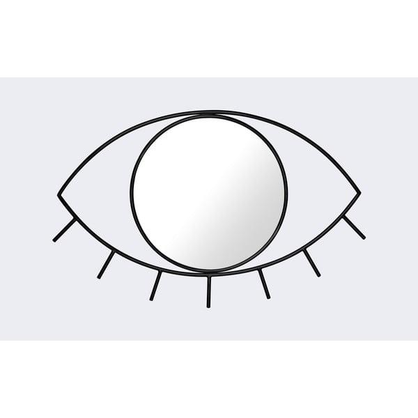 Czarne lustro ścienne DOIY Cyclops, 38x25 cm